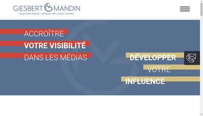 Site internet de Giesbert & Mandin