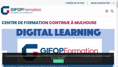 Site internet de Gifop Formation Ecole des Managers Alsace
