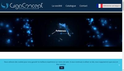 Site internet de Giga Concept