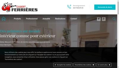 Site internet de Gilbert Ferrieres SA