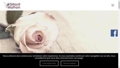 Site internet de Pompes Funebres Gillard Mathon