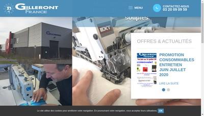 Site internet de Gilleront SAS