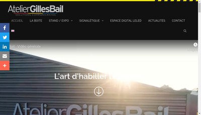 Site internet de Atelier Gilles Bail Publicite