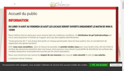 Site internet de Gilmar Fenetres et Fermetures