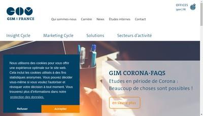 Site internet de Gim France