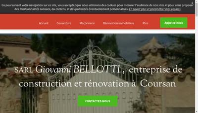 Site internet de Giovanni Bellotti Macon Createur