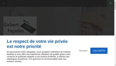 Site internet de Gisbert Facades