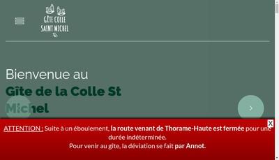 Site internet de Gite de la Colle Saint Michel