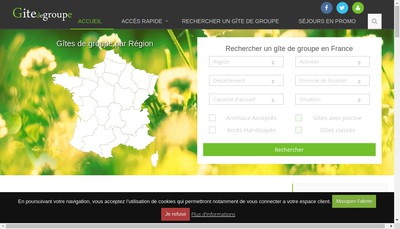 Site internet de Gitedegroupe Fr