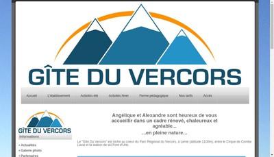 Site internet de Gite du Vercors