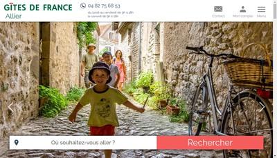 Site internet de Location Vacances Allier