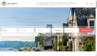 Site internet de Gites de France Anjou Services