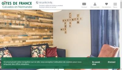 Site internet de Calvados Accueil Reservation