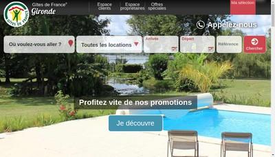 Site internet de Tourisme Reservation Gironde
