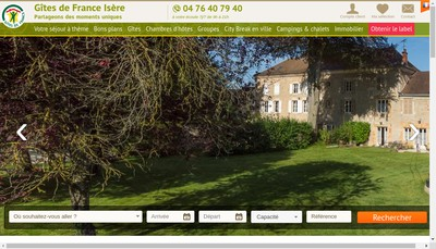 Site internet de Antenne Departement Gite de France Isere