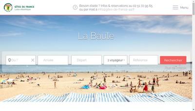 Site internet de Gites de France en Loire Atlantique