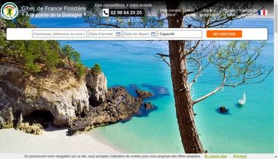 Site internet de Gite de France Relais du Finistere