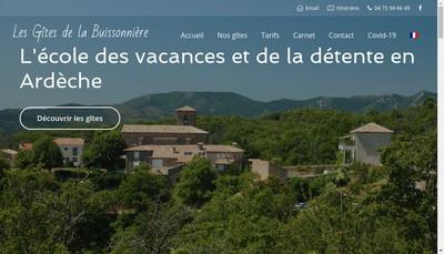 Site internet de SARL la Buissonniere