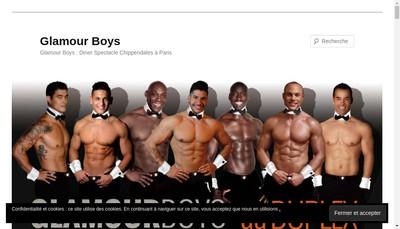 Site internet de Glamour Boys