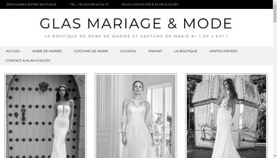 Site internet de Glas Mariage & Mode