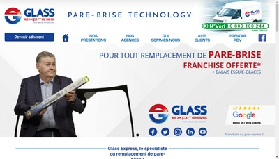 Site internet de Glass Express