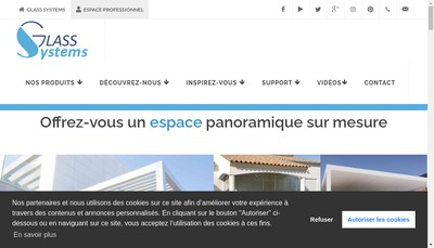Site internet de Glass Systems