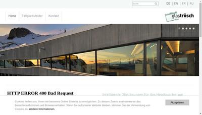 Site internet de Glas Trosch Alsace