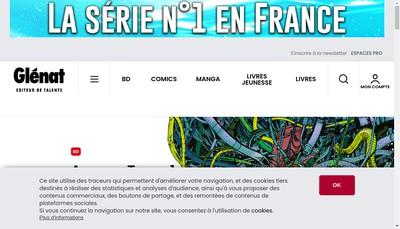 Site internet de Editions Glenat Vent d'Ouest Iliade Glen