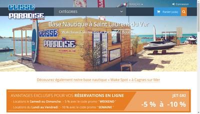 Site internet de Glisse Paradise