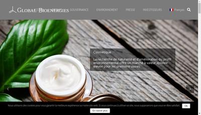 Site internet de Global Bioenergies