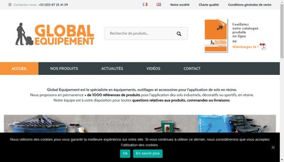 Site internet de Global Equipement