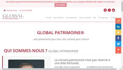 Site internet de Global Patrimoine