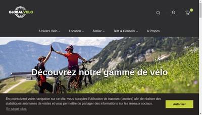 Site internet de Global Velo