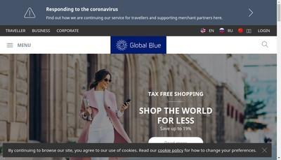 Site internet de Global Blue Holding