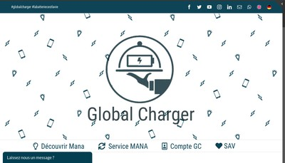 Site internet de Global Charger