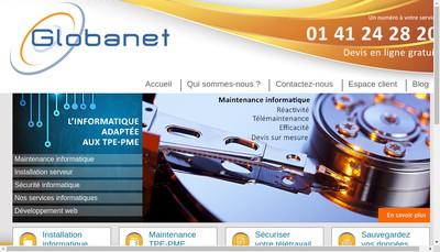 Site internet de Globanet Developpement