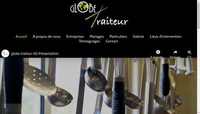 Site internet de Globe Traiteur
