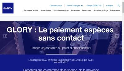 Site internet de Glory Global Solutions France