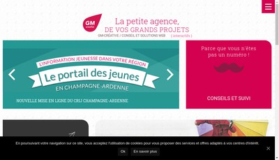 Site internet de Gm Creative