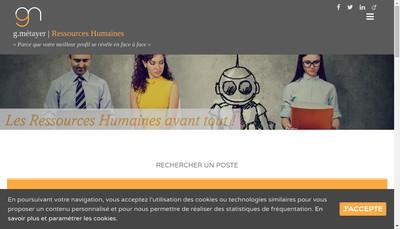 Site internet de G Metayer Ressources Humaines
