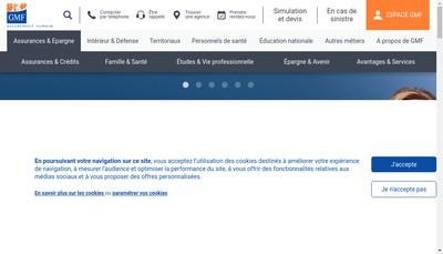 Site internet de Gmf Assurances