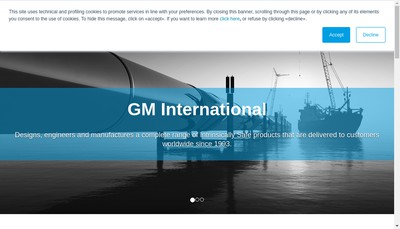 Site internet de Gm International France