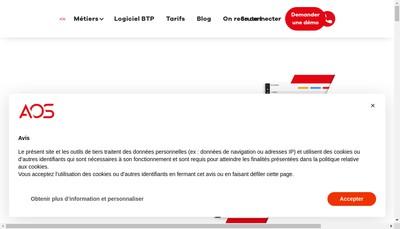Site internet de Aos