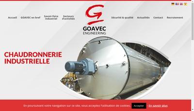 Site internet de Goavec Engineering