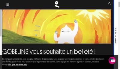 Site internet de Gobelins-Co
