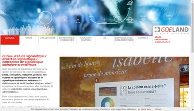 Site internet de Goeland Signaletique