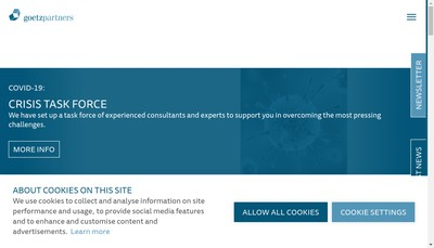 Site internet de Goetzpartners Corporate Finance