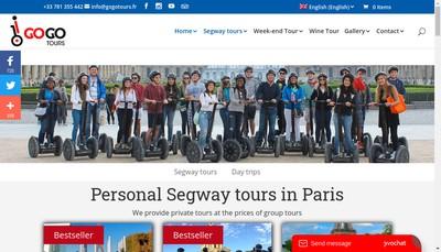 Site internet de Go Go Tours