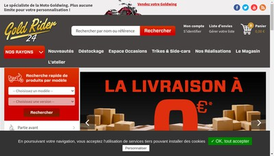 Site internet de Gold Rider 24