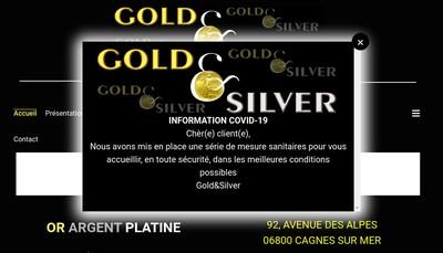 Site internet de Gold And Silver